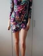 WYPRZ HIT asymetryczna sukienka odkryte ramiona 34
