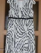 Sukienka 38M czarno biała