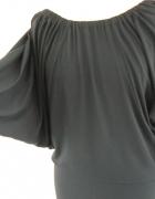 ZARA granatowa sukienka kimonowa 38M
