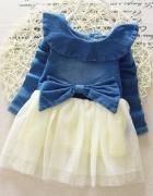 Sukienka dla dziewczynki tiul dres