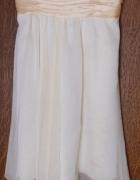 Sukienka kremowa wesele impreza 40