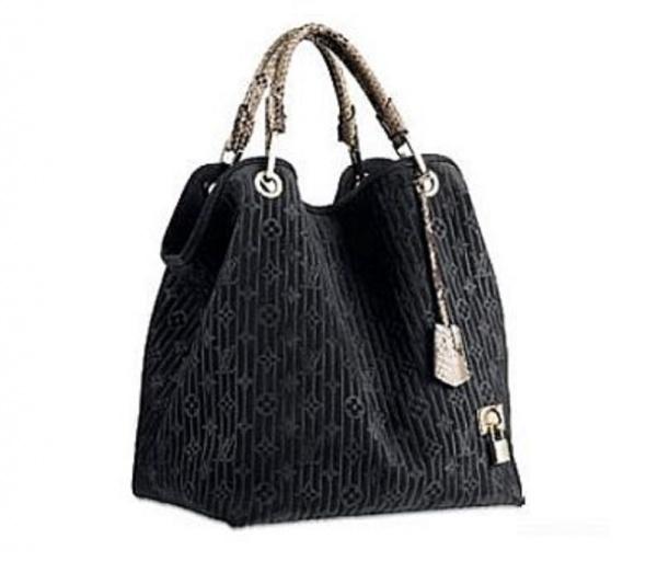 Dodatki czarna torba LV