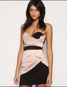 TFNC sukienka pudrowy róż mini