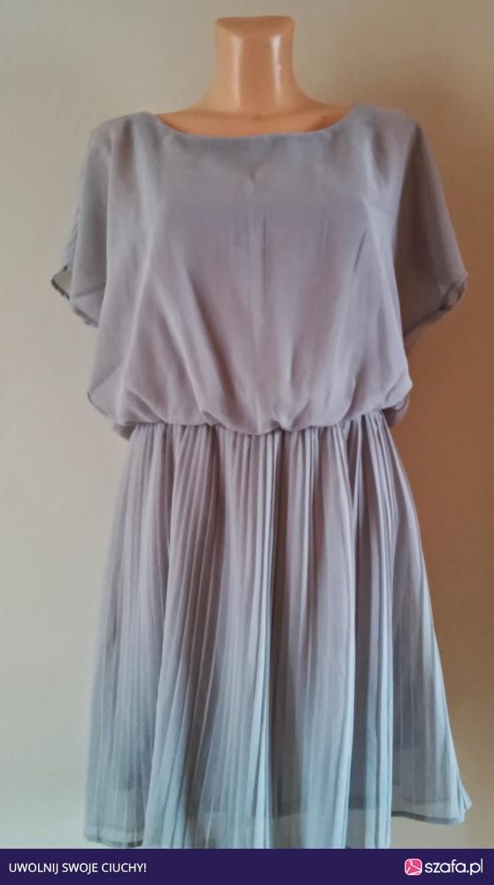 51218539eb Sukienka calliope szara mgielka plisowana l w Suknie i sukienki ...