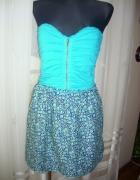 sukienka floral goretowa zip M na L