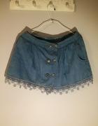 Spódnico spodenki jeansowe nowe z metką...