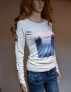 zwykła bluzka koszulka H&M 34 XS biała