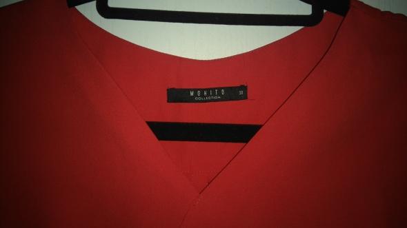 Bluzki Czerwona elegancka bluzka
