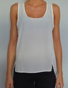 elegancka koszulowa bluzka na ramiączkach