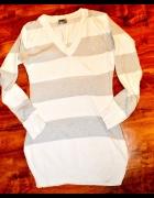 42 Tunika biało srebrna