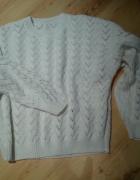 Ażurowny Biały Sweter Perełka NOWY...