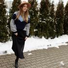 Spódnica midi i duży sweter
