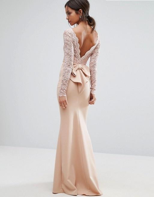 Asos suknia wesele świadkowa kokarda maxi w Suknie i