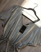 RESERVED srebrna sukienka 36 38 S M nowa