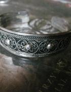 Okazała ze srebra bransoleta