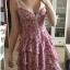 Kobieca śliczna sukienka w kwiaty 34