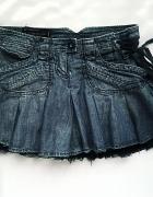 Spódniczka rozkloszowana jeansowa