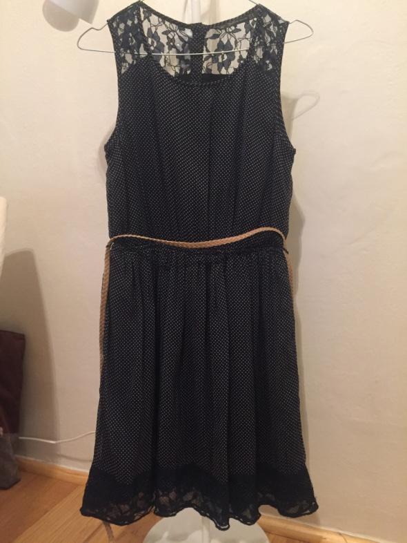 Suknie i sukienki granatowa sukienka zara rozmiar M