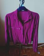 krótka bordowa koszula