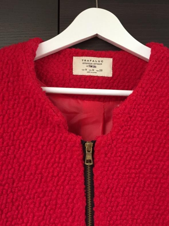 Odzież wierzchnia Czerwony wełniany płaszcz ZARA M