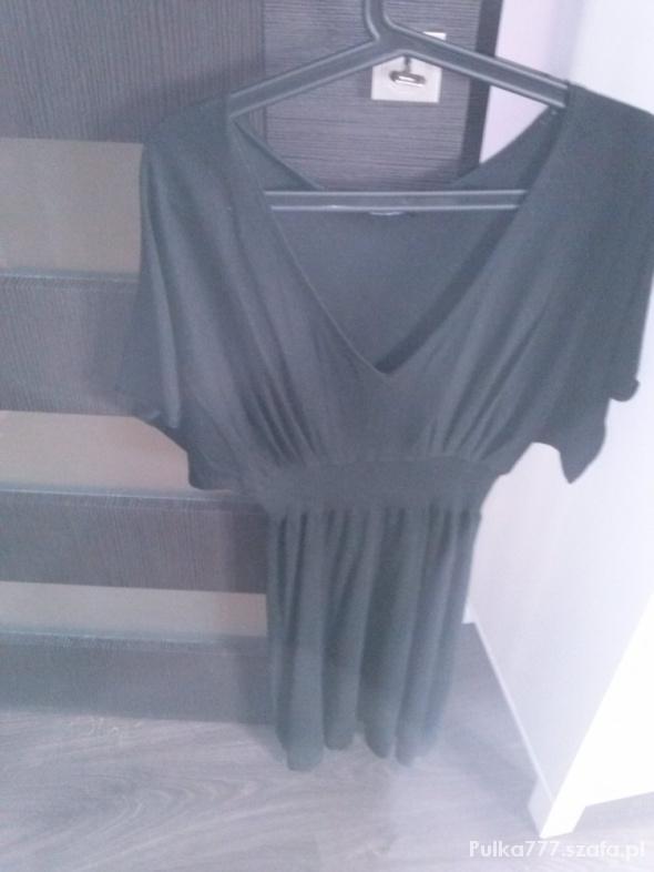 Suknie i sukienki czarna sukienka oversize