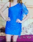 Niebieska sukienka rozmiar S
