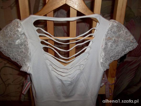 Bluzki Biała bezszwowa bluzeczka 36