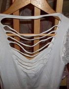 Biała bezszwowa bluzeczka 36