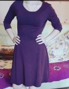 Bordowa sukienka H&M Rozmiar M