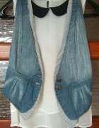 Top Secret kamizelka jeansowa jak nowa 34 XS niebieska