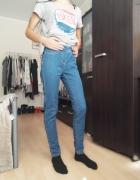 jeansowe tregginsy spodnie