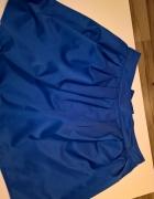 kobaltowa spódnica z kokardką