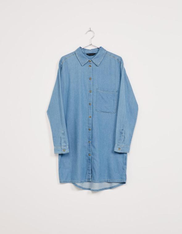 Ubrania koszula sukienka jeansowa jasna