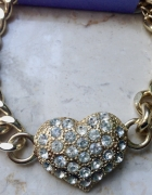 Nowa bransoletka złota serduszko