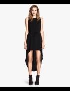 czarna sukienka hm 34 dluzszy tyl