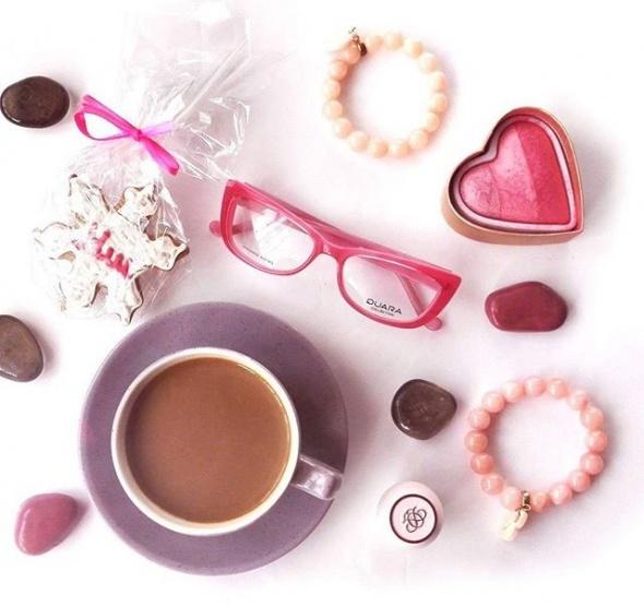 Eleganckie Moje różowe okulary