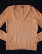 SISLEY różowy sweter cashmere merino S M...
