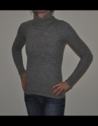 THE WHITE COMPANY szary sweter golf cashmere S