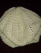 F&F Zimowy beret ciepły robiony na drutach