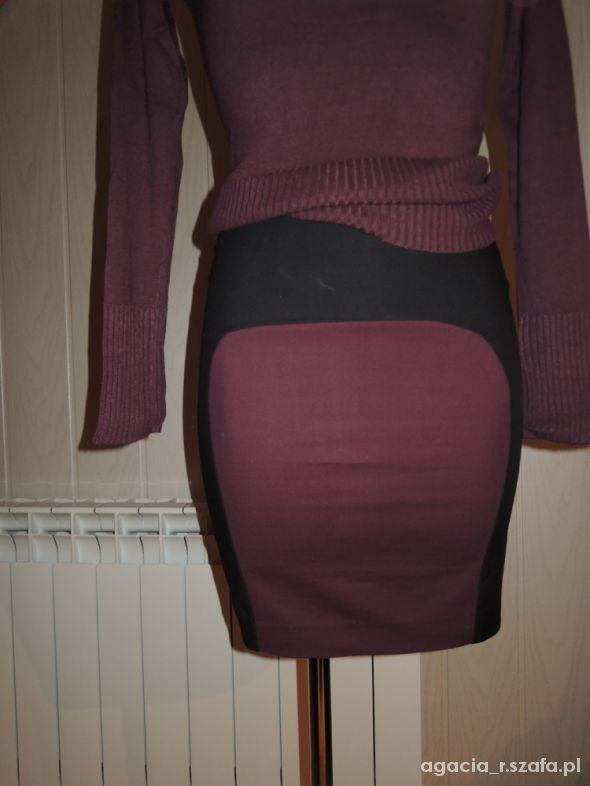 Spódnice spódnica mini bandage skirt Bershka