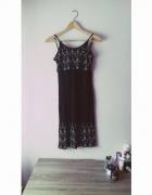 czarna sukienka na ramiączkach rozmiar XS