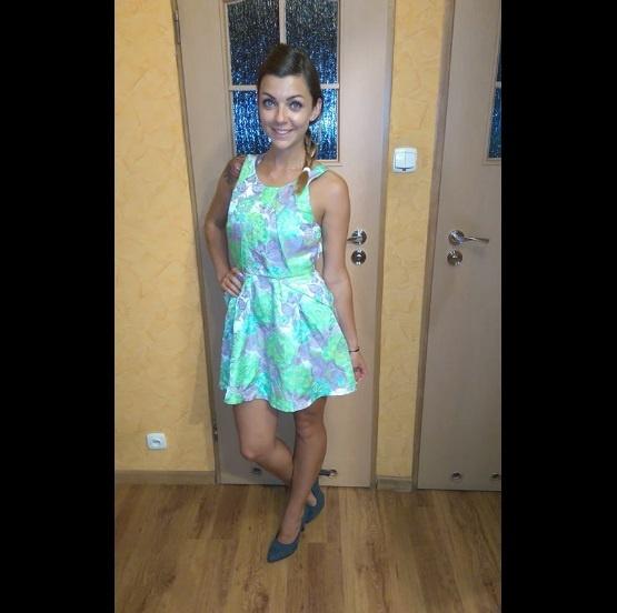 Mój styl topshop dress lime flowers sukienka na wesele