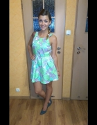 topshop dress lime flowers sukienka na wesele