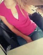 Różowa bluzeczka koronka