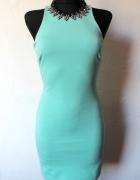 Dopasowanamiętowa sukienka r XS