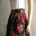 NDISKA czarna spódnica w kwiaty folk etno cudo 38