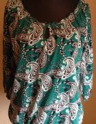 Zielina bluzka w indyjski wzór 50
