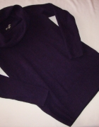 GAP fioletowy sweter golf lambswool S M