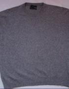 Szary sweter Jasper Conran Lmerinowool cashmere