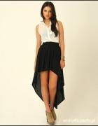 Czarna asymetryczna spódniczka